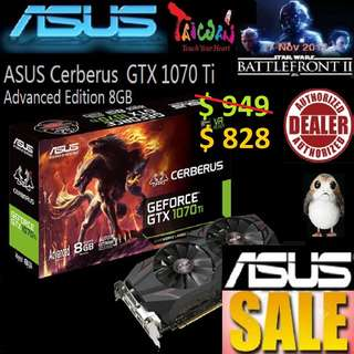 ASUS Cerberus GTX 1070 Ti Advanced Edition 8GB GDDR5.., ( June 2018 Asus Sales )