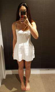 White Oscar St Strapless Dress BNWT
