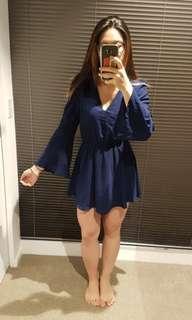 Navy Lace Back Dress 8