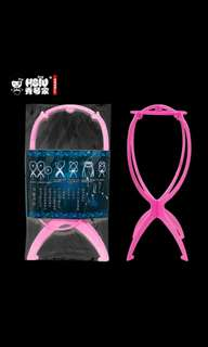 Instock pink portable wig holder *Brand new in package* chat to buy int