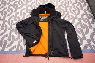 Authentic Superdry jacket mens windcheater orange large size