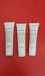 Fresh Soy face cleanser - All 3