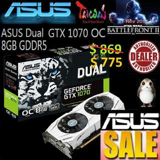 ASUS Dual GTX 1070 OC edition 8GB GDDR5.., ( June 2018 Asus Sales )