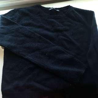 Brandy Knit navy long sleeve