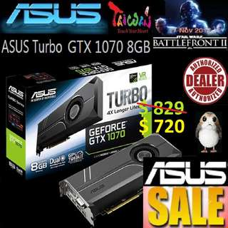 ASUS GeForce® Turbo GTX 1070 8GB GDDR5X.., ( June 2018 Asus Sales )
