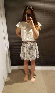 Lipsy Grey Patterned Skirt 10
