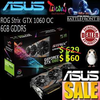 Asus ROG Strix GTX 1060 OC edition 6GB GDDR5..,
