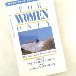 For Women Only by Evelyn R. Petersen and J. Allan Petersen Christian Book