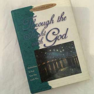 Through the Night with God Devotional Book Christian Book