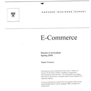 🚚 Harvard Business School Ecommerce Notes