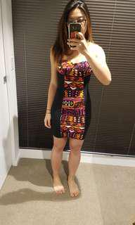 BNWOT aztec print dress S