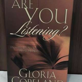 Are You Listening by Gloria Copeland Christian Book