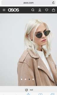 Metal cat eye sunglasses