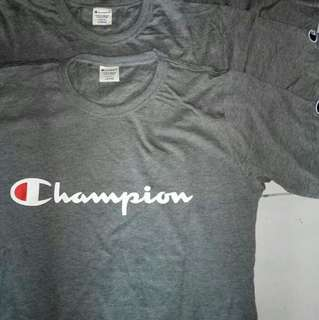 Champion Logo Tee Grey