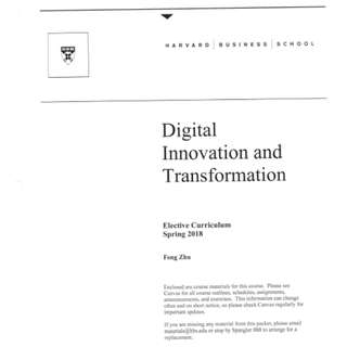 🚚 Harvard Business School Digital Innovation And Transformation Notes