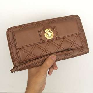 Marc Jacobs quilted full zipper long wallet