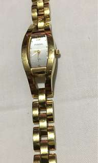 Fossil Gold Chain Watch