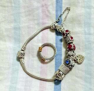Pandora bracelet with cartier ring