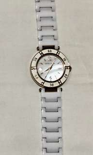 Anne Klein Wrist Watch With Ceramic Bracelet And gemstones