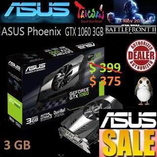 ASUS PHOENIX GTX 1060 3GB GDDR5 (3Y).
