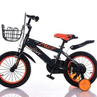 "🚚 Kid's Bike 14"" AIER Sport Training Wheels Basket Mudguards Bicycle #CarouPay"