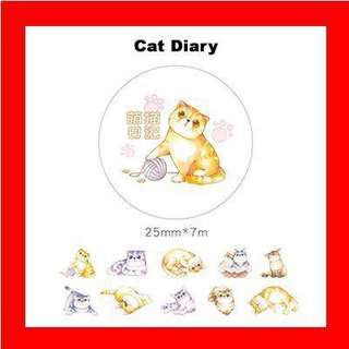 🚚 Washi Tape (Cat Diary)