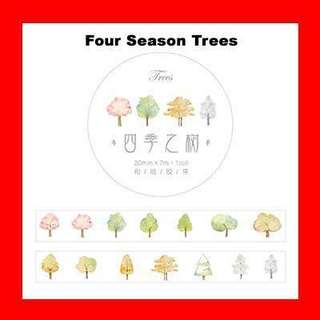 🚚 Washi Tape (Four Season Tree)