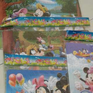 Puzzles Mickey Mouse (4 Pieces)