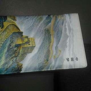 🚚 中国风礼品丝绸笔记本