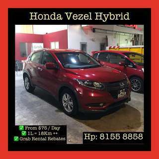 Honda Vezel Hybrid  - Grab Car Rentals, Uber Welcomed