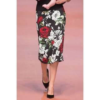 Stylish Flower Print Pencil Skirt TG