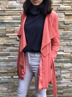 Coral mid length jacket