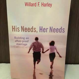 His Needs Her Needs by Willard F. Harley Christian Book