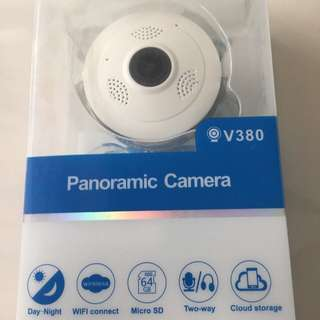 New Ready Stock 360 Degrees Wide Angle Panoramic Wifi IP Mini Security CCTV Camera