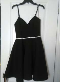 Black elegant (prom, semi/formal, graduation dress)