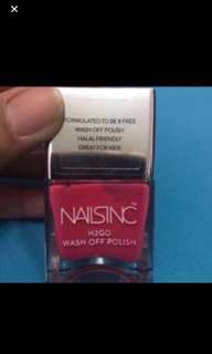 Brand New Naisinc H2go Wash Off Brook Street Nail Polish