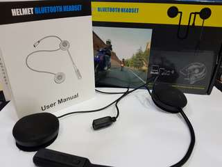 Motorcycle bluetooth headset with mic