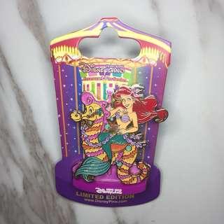 迪士尼徽章 Disney Pin HKDL 旋轉木馬 Carousel 美人魚 Ariel LE300(包平郵)(自由出價)(目前出價$450)