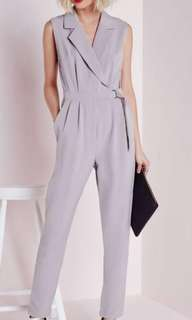 Missguided D-Ring Taupe Jumpsuit