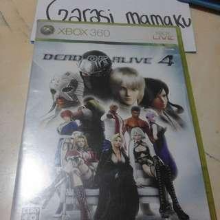 kaset xbox 360 dead or alive 4 ori