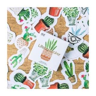 45pcs Cactus Stickers