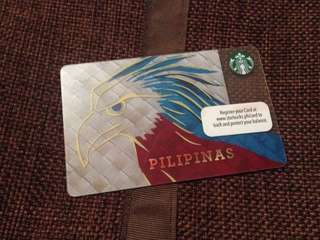 Limited edition Starbucks card- Pilipinas