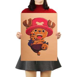 🚚 Premium Vintage Style One Piece| Tony Tony Chopper Stance Poster