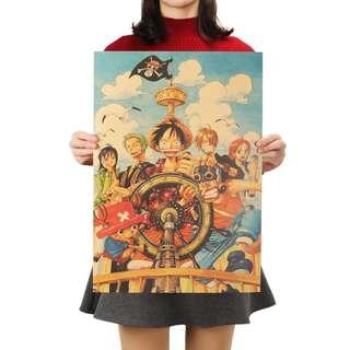 🚚 Premium Vintage Style One Piece| Crew Sailing Poster