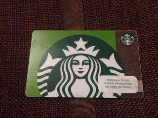 LATEST starbucks card- siren green