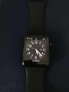 Apple Watch (1st Gen) Stainless Steel 42mm black