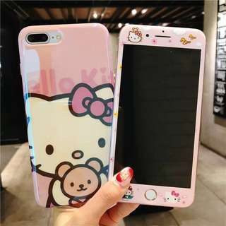 iPhone case Hello Kitty 手機殼 tempered glass 鋼化玻璃保護貼