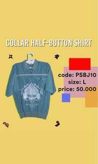 collar half-button shirt