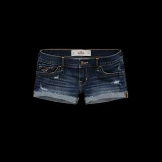 Hollister low rise ripped shorts