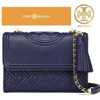 💯Authentic Tory Burch Fleming Small shoulder/sling Bag(NAVY)